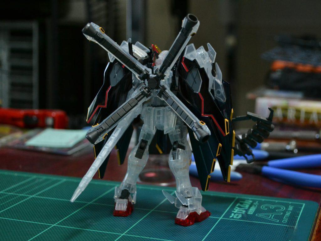 HGBF 1/144 クロスボーン・ガンダムX1 フルクロス TYPE.GBFT メッキ&クリア Ver. 背面
