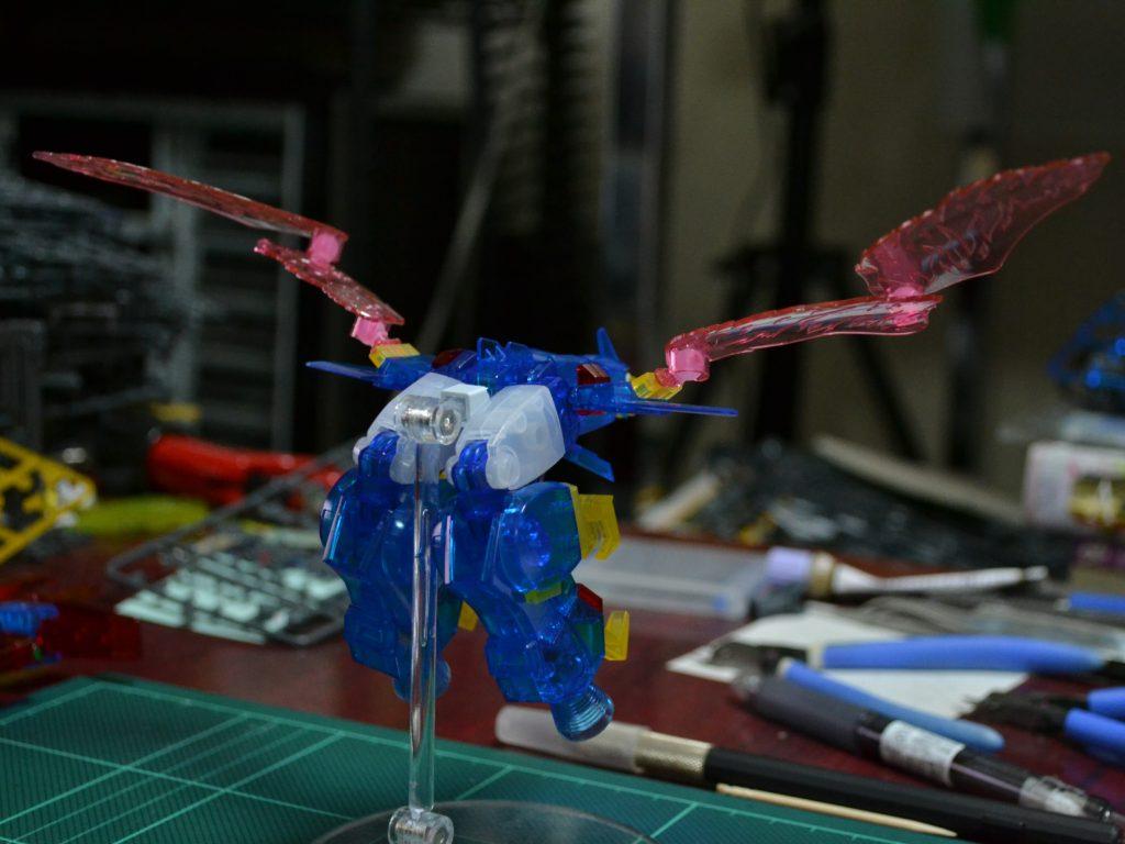 HGBF 1/144 ガンダムトライオン3 クリアカラーVer. 背面