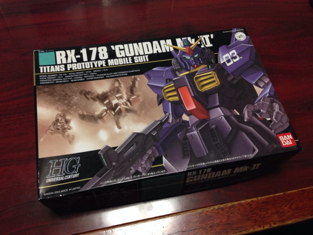 HGUC 1/144 RX-178 ガンダムMk-II(ティターンズ)[GUNDAM Mk-II TITANS] パッケージ