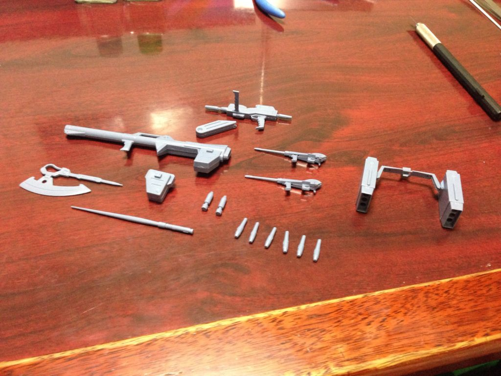 旧キット Zゼータガンダム・モビルスーツ用武器セット[Z GUNDAM WEAPONS for MOBILE SUIT]