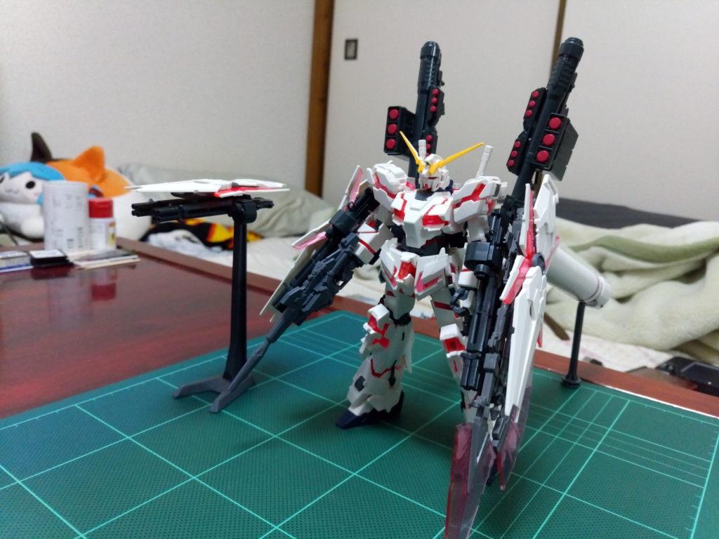 HGUC 1/144 フルアーマー・ユニコーンガンダム(デストロイモード/レッドカラーVer.) 正面