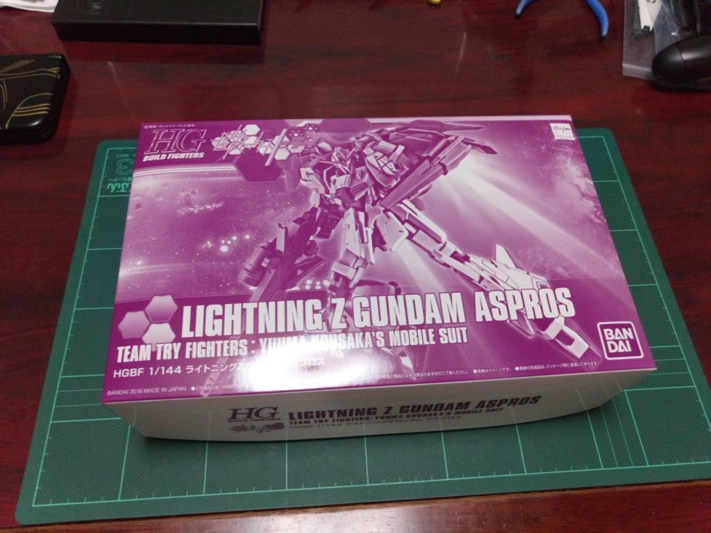 HGBF 1/144 ライトニングZガンダム アスプロス パッケージ