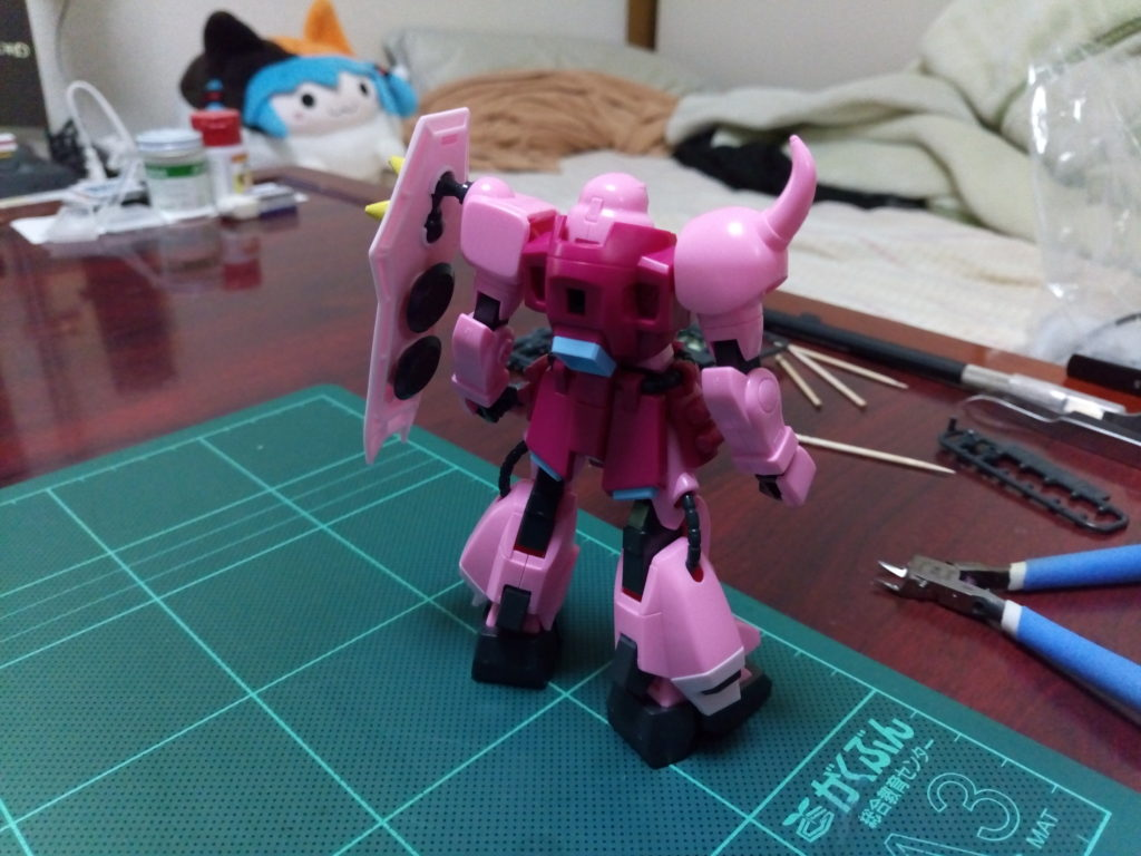 HG 1/144 ZGMF-1000 ザクウォーリア(ライブ・コンサートver.) 背面