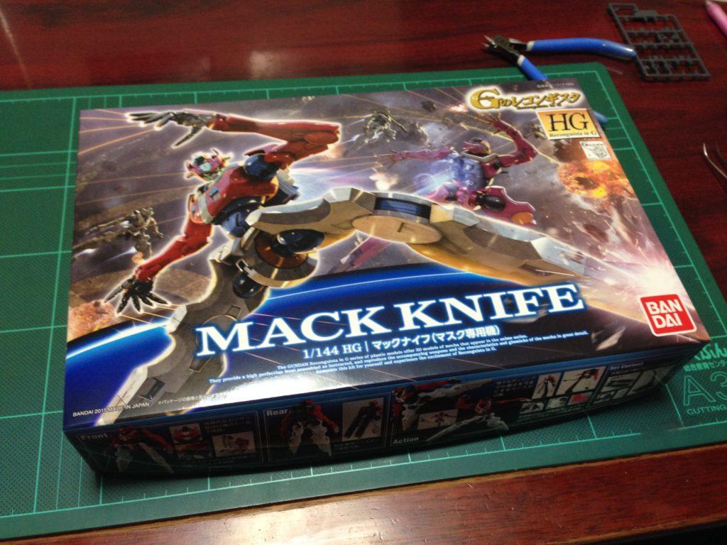 HG 1/144 マックナイフ(マスク専用機) パッケージ