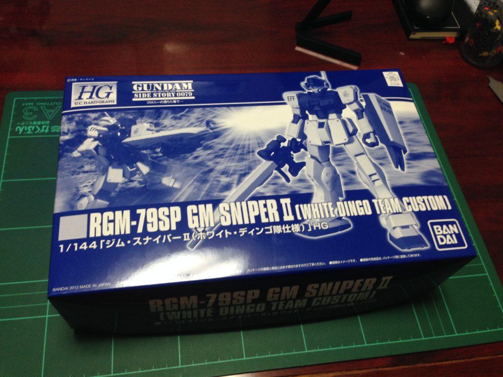 HGUC 1/144 RGM-79SP ジム・スナイパーII(ホワイト・ディンゴ隊仕様) パッケージ