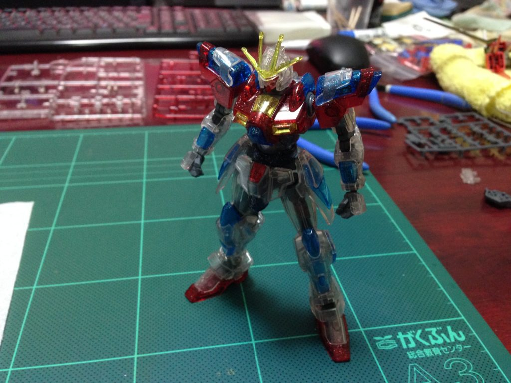 HG 1/144 トライバーニングガンダム PPクリアVer. [TRY BURNING GUNDAM PLAVSKY PARTICLE CLEAR Ver.] 正面