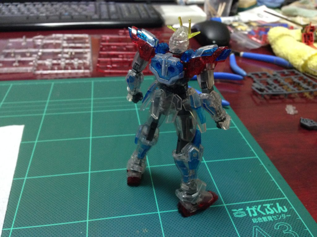 HG 1/144 トライバーニングガンダム PPクリアVer. [TRY BURNING GUNDAM PLAVSKY PARTICLE CLEAR Ver.] 背面
