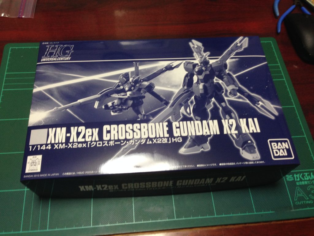 HGUC 1/144 XM-X2ex クロスボーン・ガンダムX2改 [CROSSBONE GUNDAM X2 KAI] パッケージ