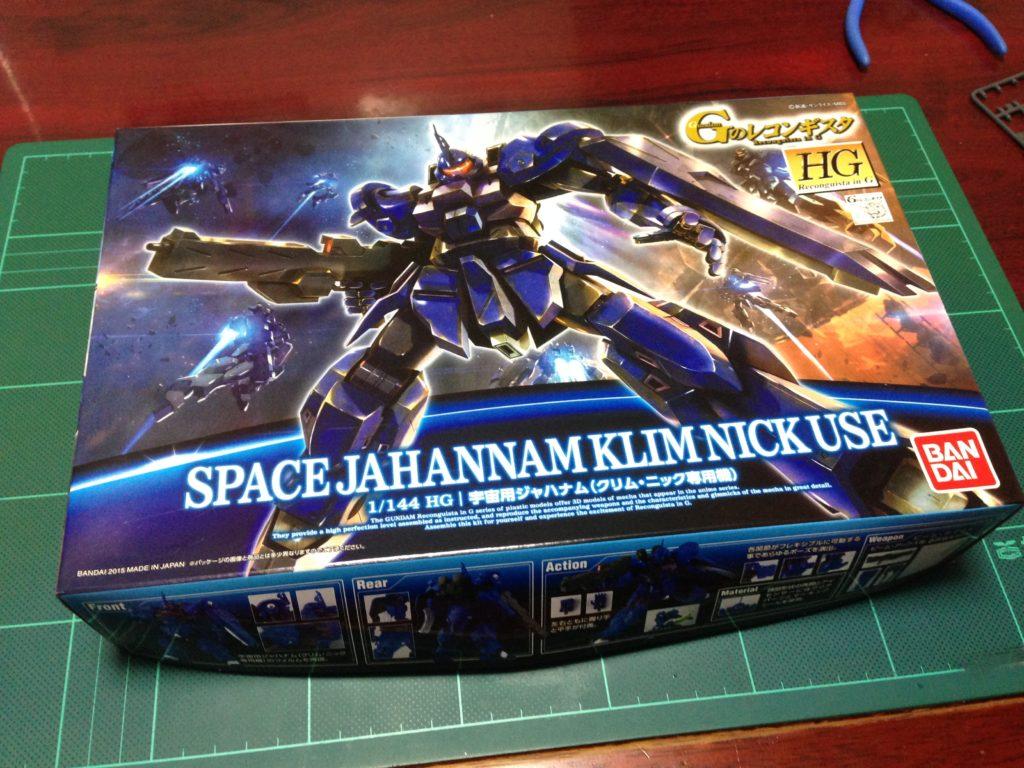 HG 1/144 宇宙用ジャハナム(クリム・ニック専用機)[SPACE JAHANAM (KLIM NICK USE)] パッケージ