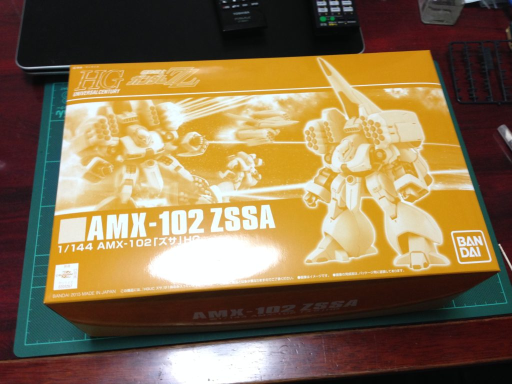HGUC 1/144 AMX-102 ズサ(ZZ版) [ZSSA] パッケージ