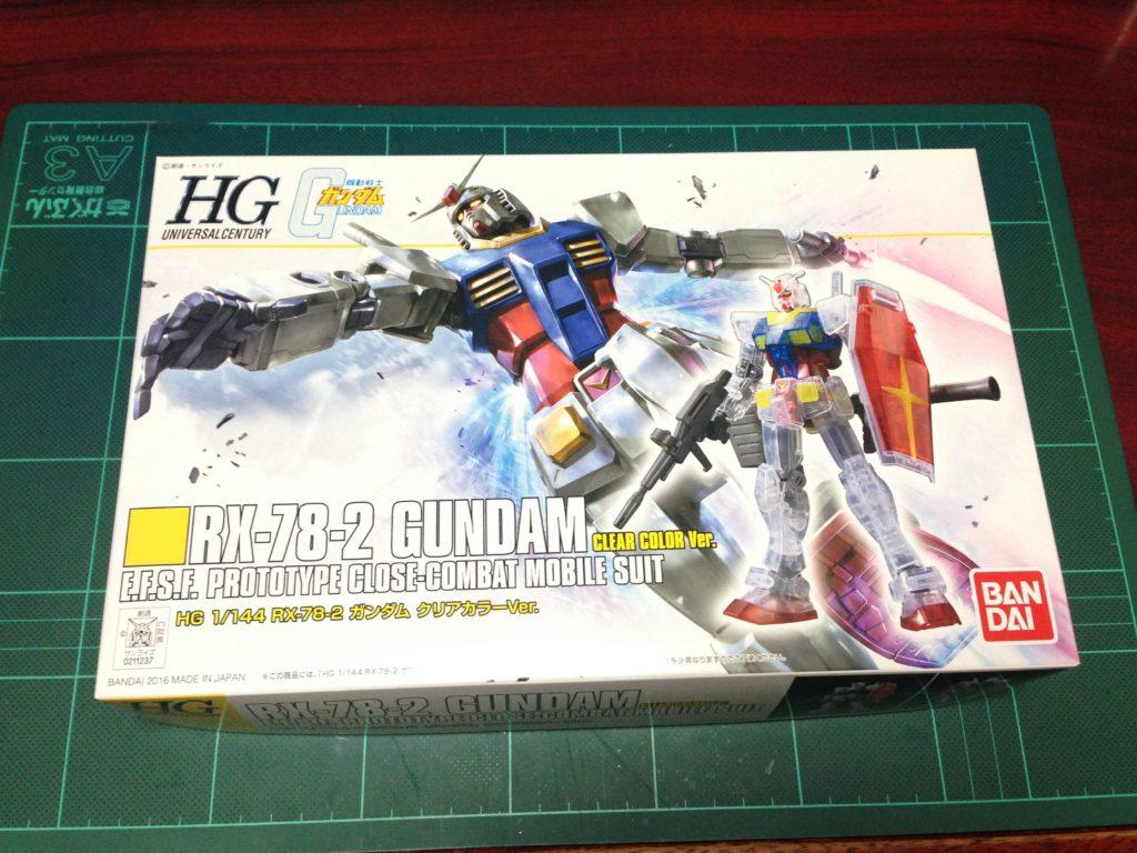 HGUC 1/144 REVIVE RX-78-2 ガンダムクリアカラーVer. パッケージ