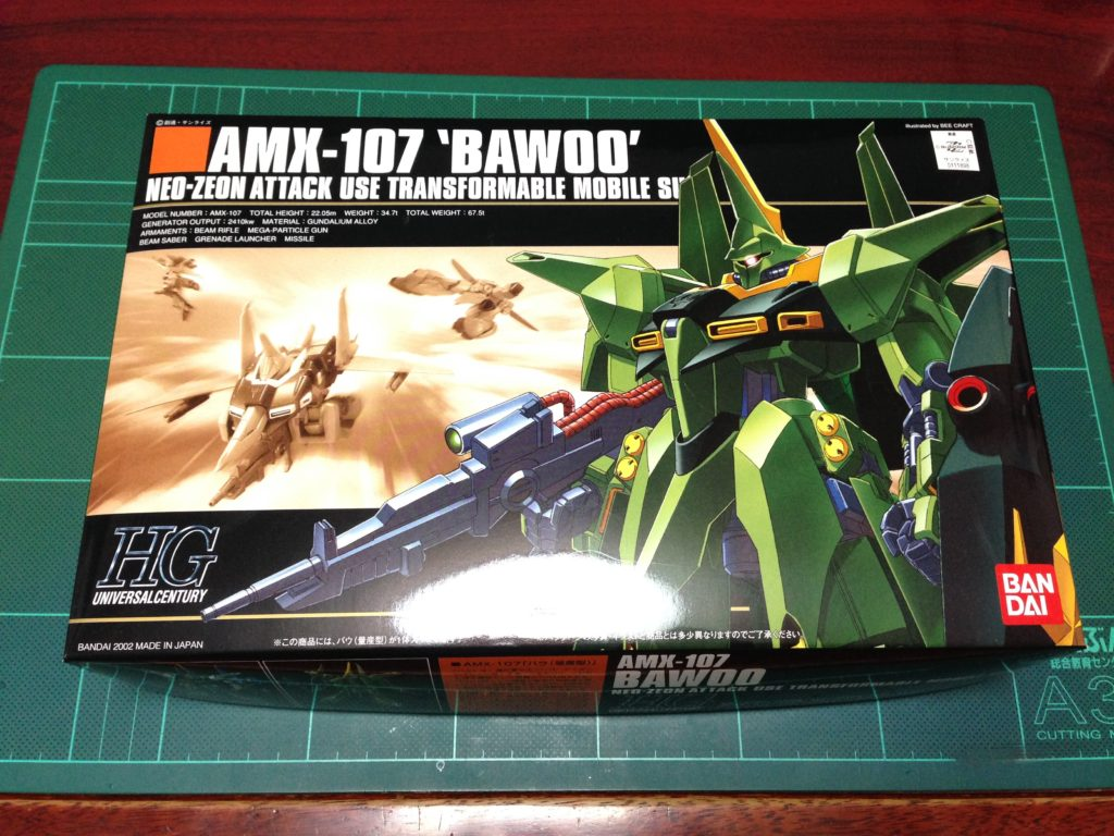 HGUC 1/144 AMX-107 バウ(量産型)[BAWOO] パッケージ