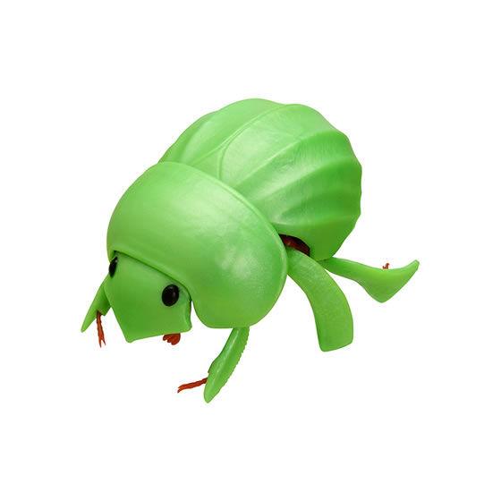 バンダイ 生き物カプセル だんごむし まるまるスイング だいおうぐそくむし ライトグリーンのまんまるこがね