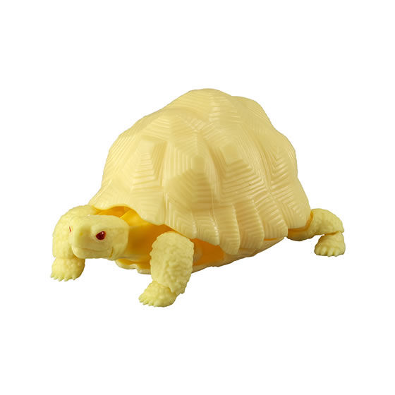 バンダイ 生き物カプセル かめ02 インドホシガメ(アルビノ黄色種)