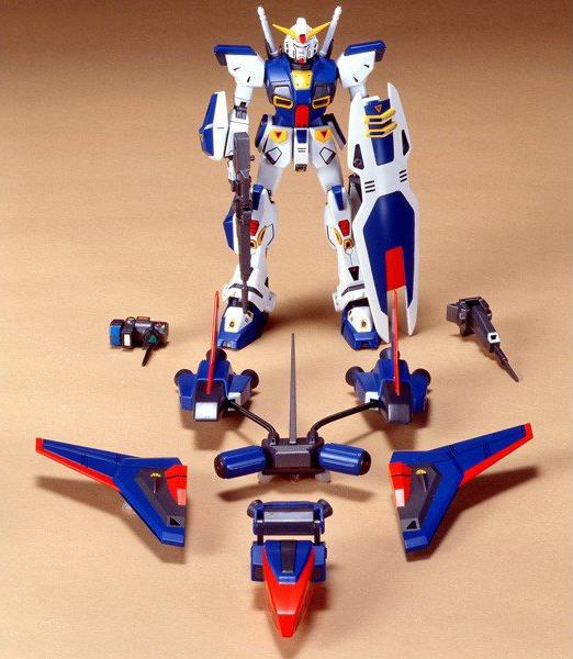 43745旧キット 1/100 ガンダムF90-Pタイプ(大気圏突入仕様) [Gundam F90 P-Type]