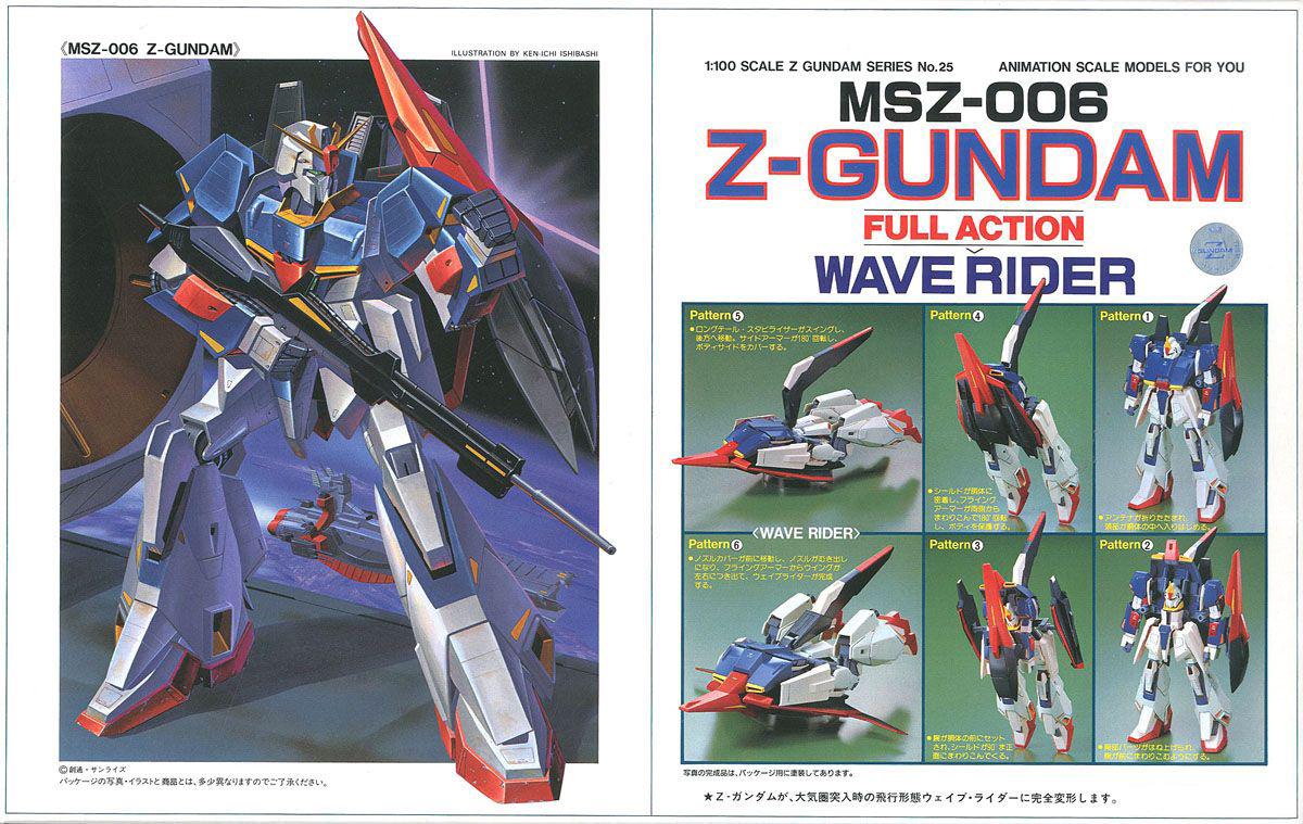 旧キット 1/100 MSZ-006 FULL ACTION Zガンダム [Z Gundam] (ゼータガンダム)