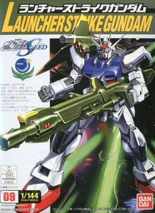 コレクションシリーズ 1/144 GAT-X105 ランチャーストライクガンダム パッケージアート