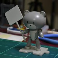 HGPG 1/144 プチッガイ サフェーサーグレー&プラカード [Petit'gguy Surfacer Grey and Placard]