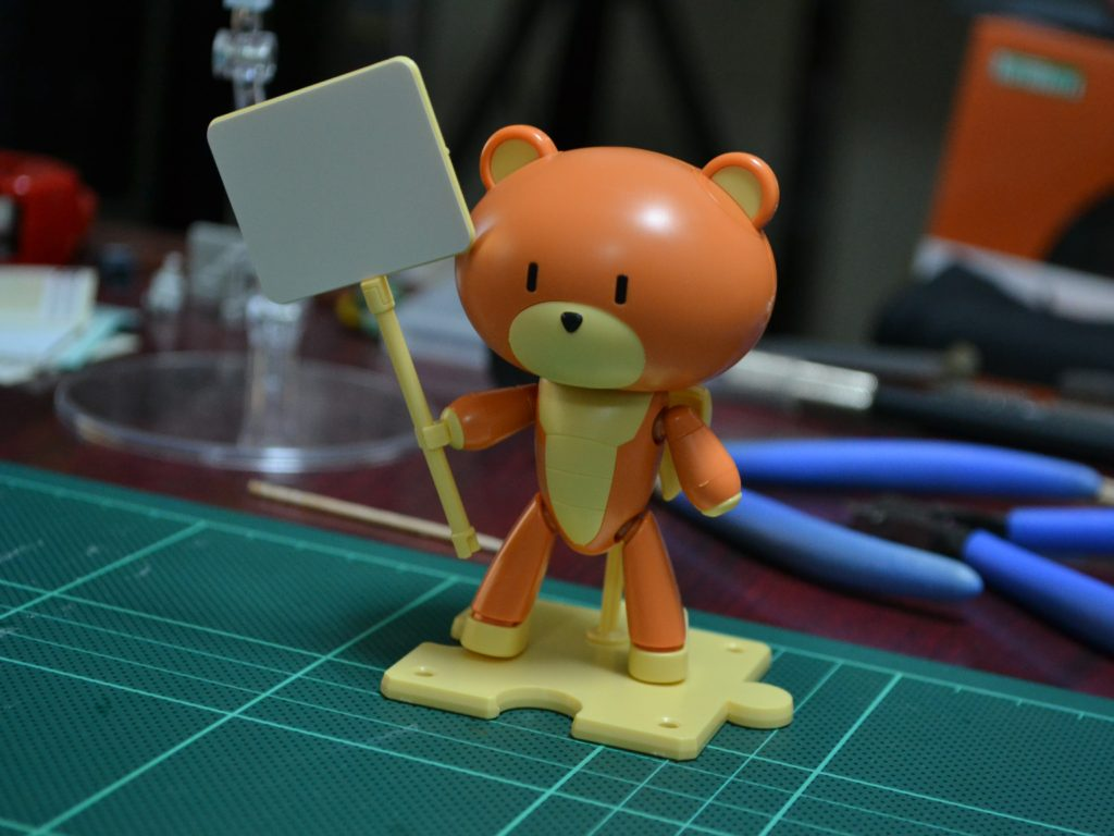 HGPG 1/144 プチッガイ ラスティオレンジ&プラカード [Petit'gguy Rusty Orange and Placard] 正面