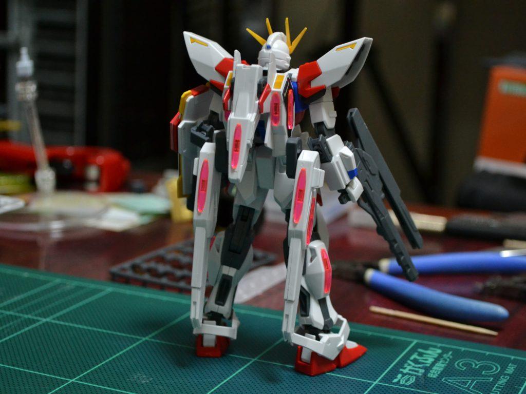 HGBF 1/144 GAT-X105B/ST スタービルドストライクガンダム プラフスキーウイング [Star Build Strike Gundam Plavsky Wing] 背面