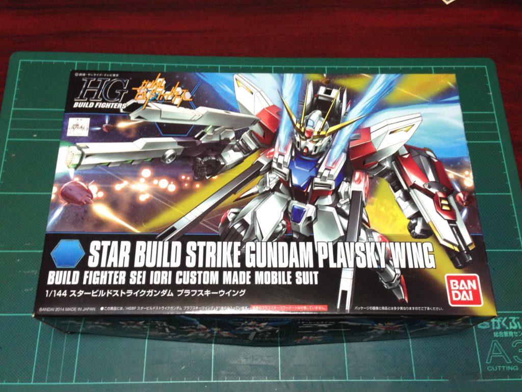 HGBF 1/144 GAT-X105B/ST スタービルドストライクガンダム プラフスキーウイング [Star Build Strike Gundam Plavsky Wing] パッケージ