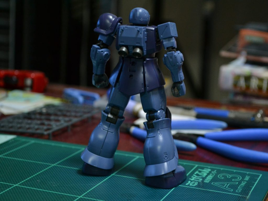 HG 1/144 MS-05 ザクI (黒い三連星機) [Zaku I (Black Tri-Stars Unit)] [TheORIGIN] 背面