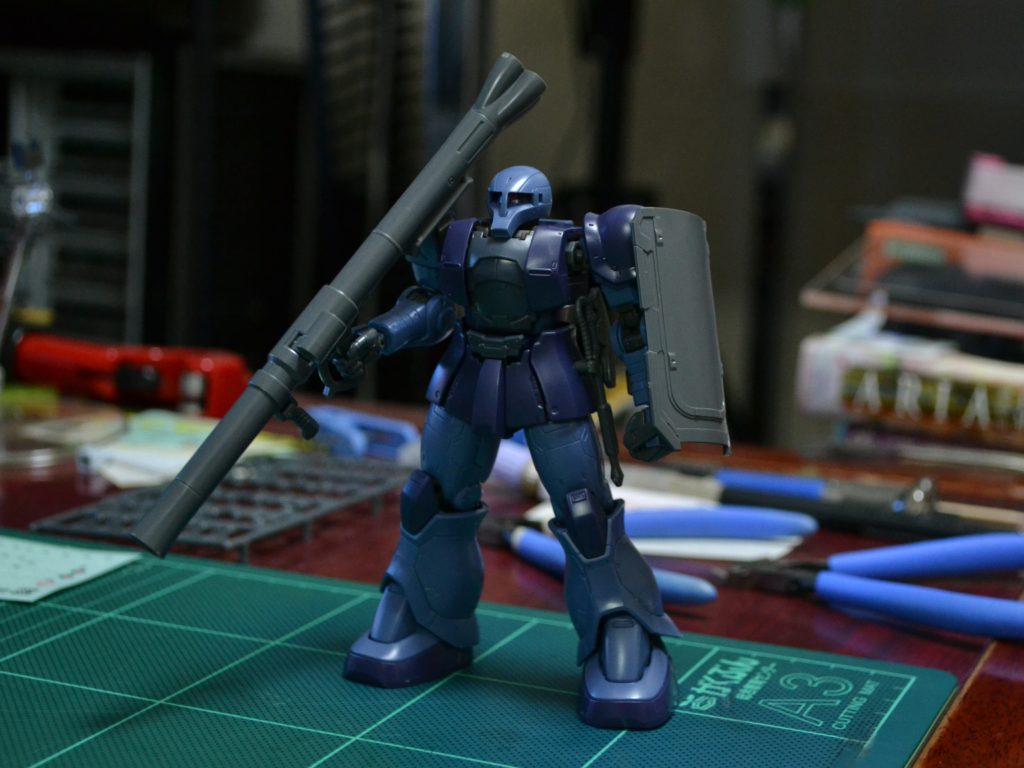HG 1/144 MS-05 ザクI (黒い三連星機) [Zaku I (Black Tri-Stars Unit)] [TheORIGIN] 正面