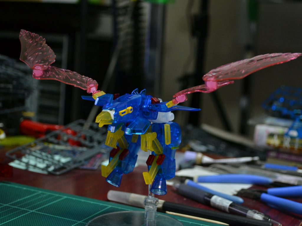 HGBF 1/144 ガンダムトライオン3 クリアカラーVer. 正面