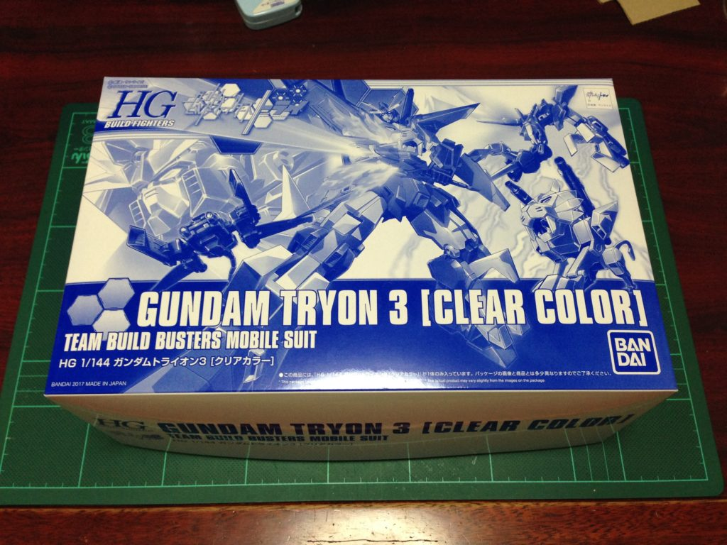 HGBF 1/144 ガンダムトライオン3 クリアカラーVer. パッケージ