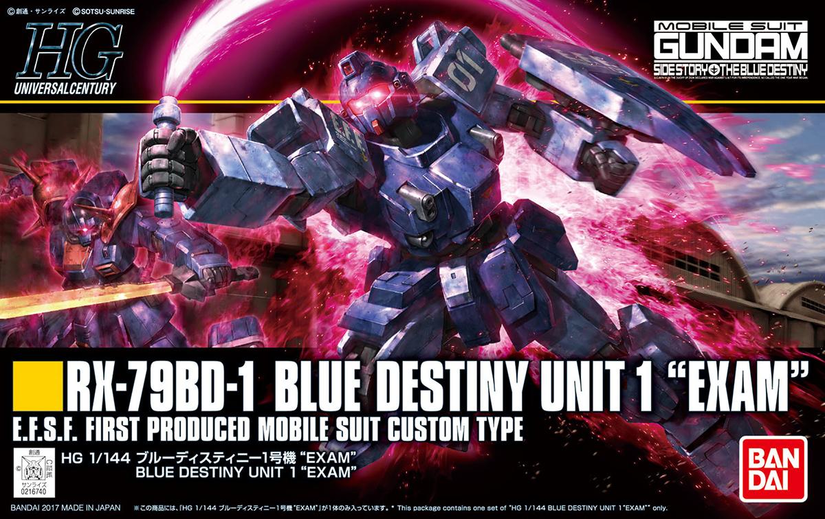 "HGUC 1/144 RX-79BD-1 ブルーディスティニー1号機""EXAM"" [Blue Destiny Unit 1 ""EXAM""] 5058268 0216740"