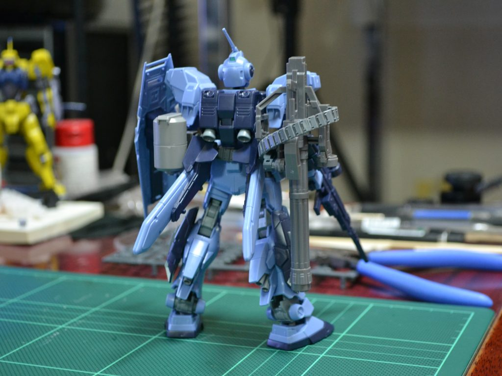 HGUC 1/144 RX-80PR ペイルライダー(空間戦仕様) [Pale Rider (Space Type)] 背面