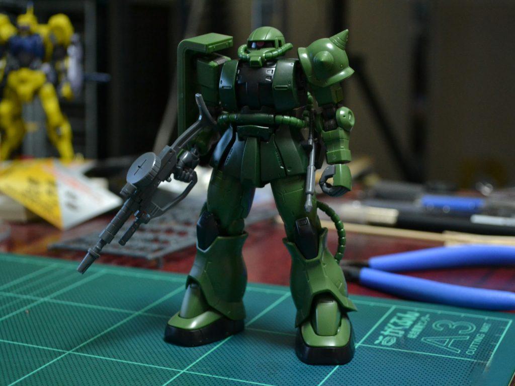 HG 1/144 MS-06C ザクII C型/C-5型 [Zaku II Type C / Type C-5] [TheORIGIN] 正面