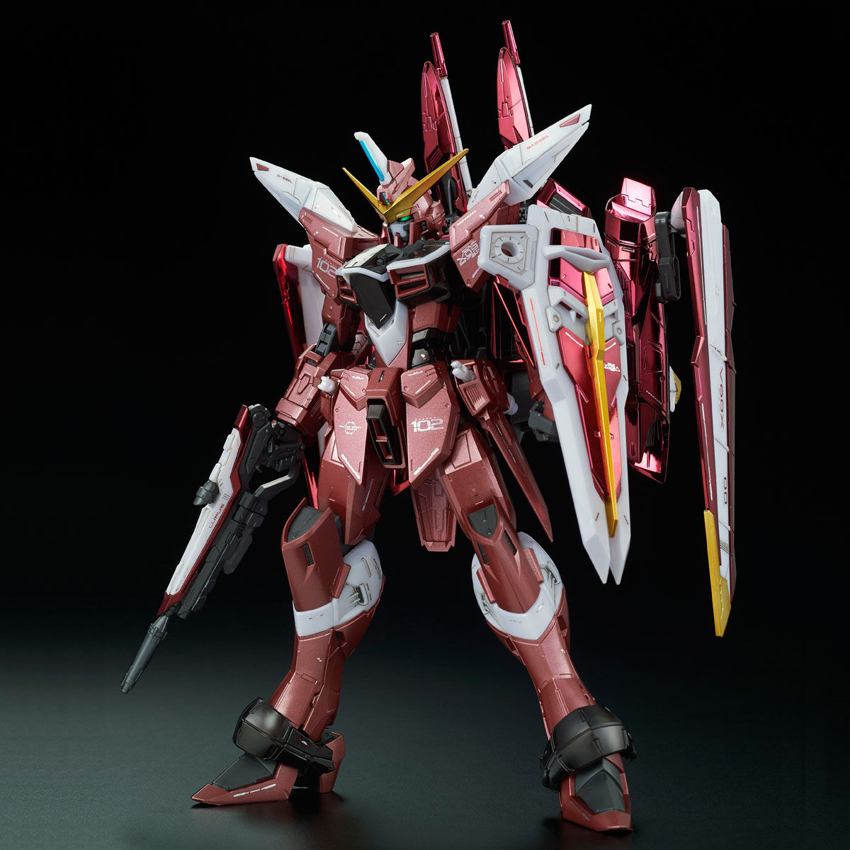 MG 1/100 ZGMF-X09A ジャスティスガンダム[スペシャルコーティング] [Justice Gundam [Clear Color Ver.]]
