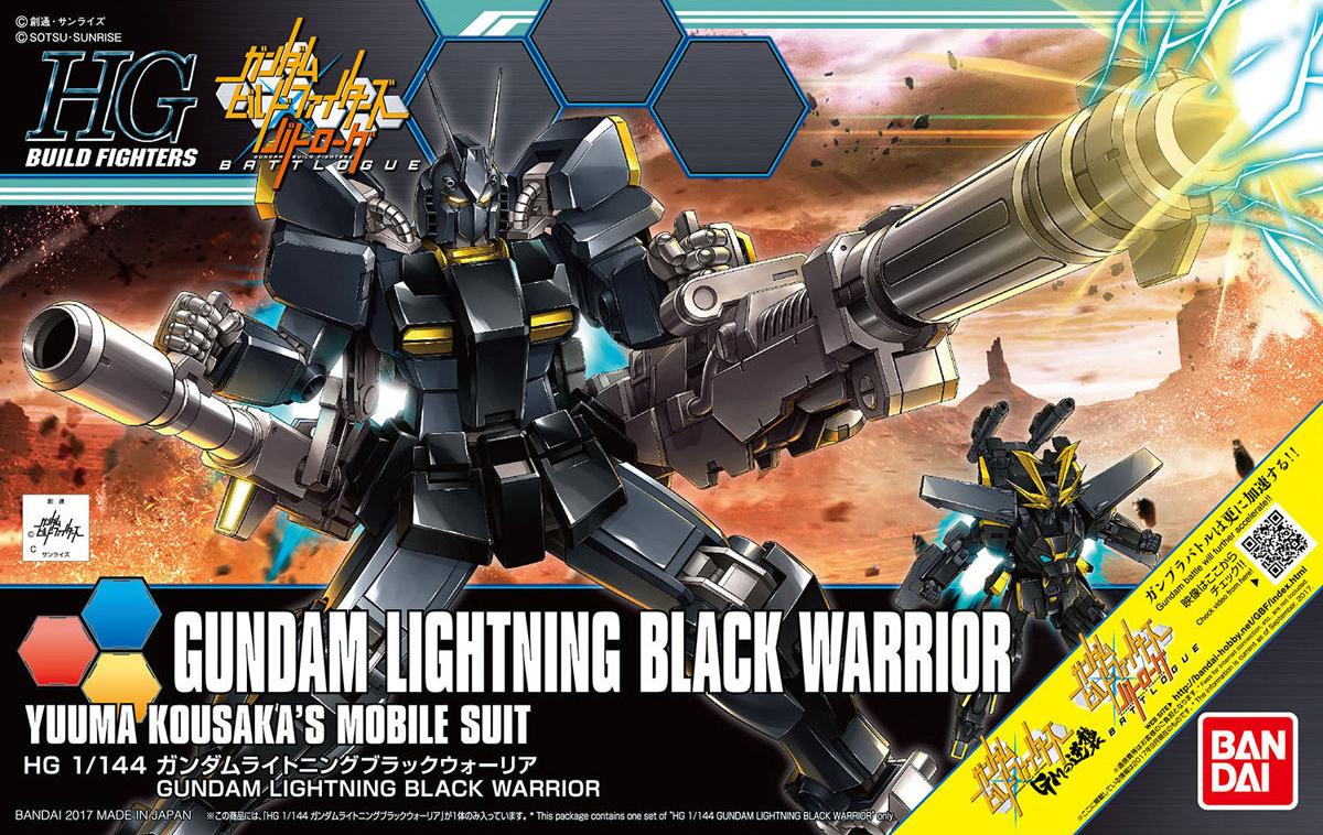HGBF 1/144 PF-73-3BL ライトニングブラックウォーリア [Gundam Lightning Black Warrior]