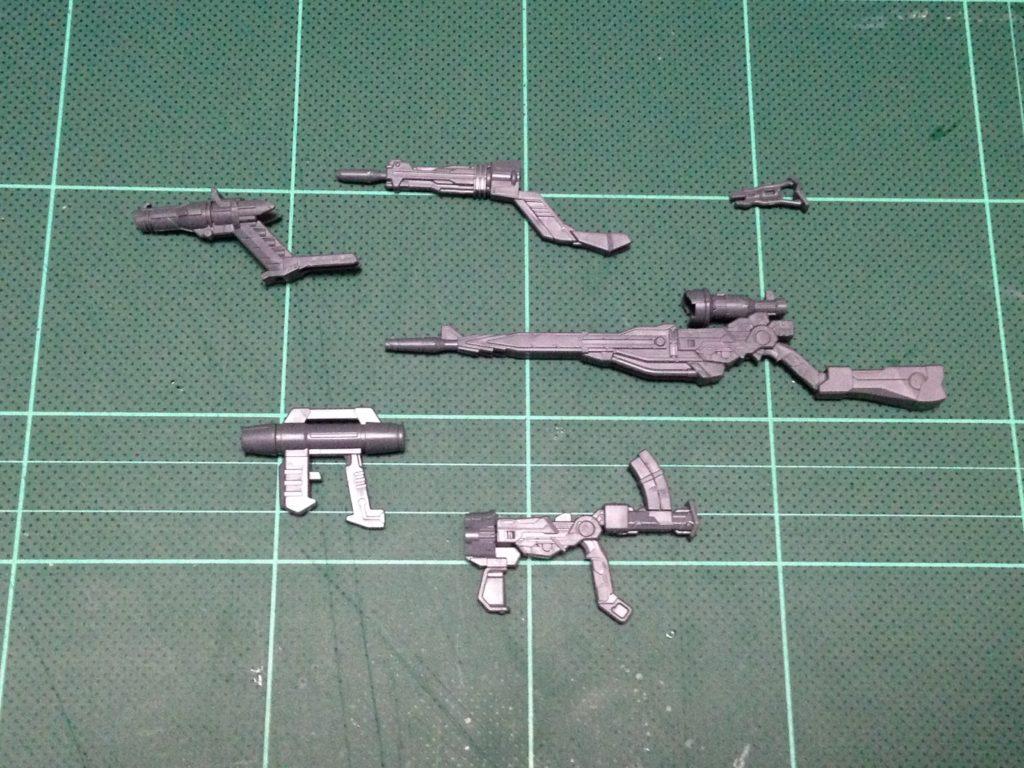 HGBC 1/144 ジムジム ウエポンズ [GM GM Weapons] セット内容