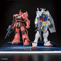 HGUC 1/144 RX-78-2 GUNDAM & MS-06S ZAKU II SET Ver. GUNDAM docks at Taiwan