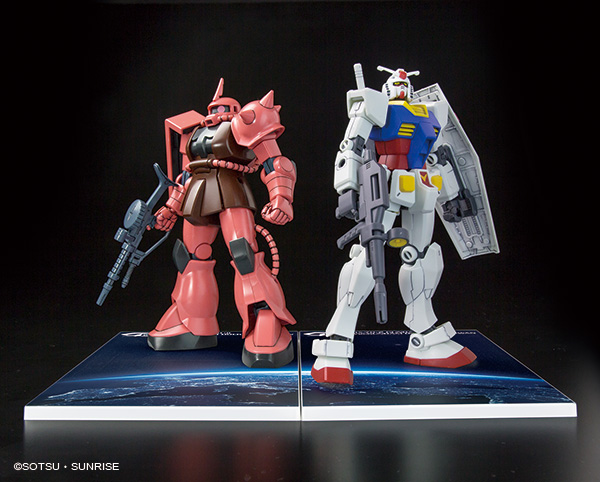 58204HGUC 1/144 RX-78-2 GUNDAM & MS-06S ZAKU II SET Ver. GUNDAM docks at Taiwan
