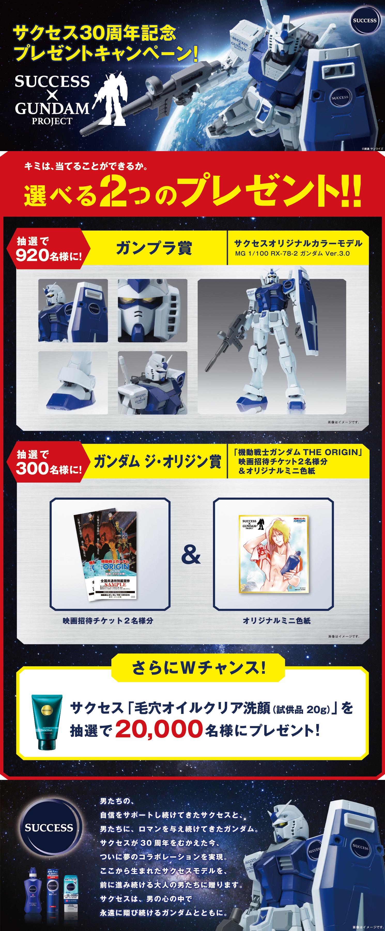 MG 1/100 ガンダム Ver.3.0 サクセスオリジナルカラーモデル [Gundam Ver.3.0 Success Original Color Model] 公式商品説明(画像)
