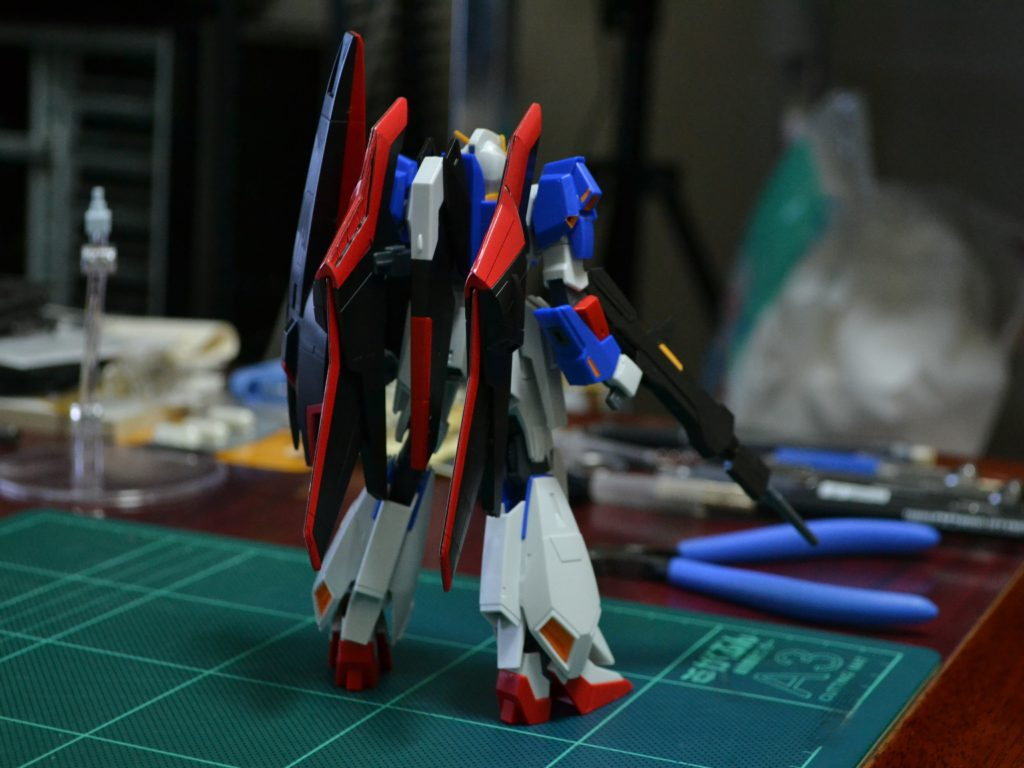 HGUC 1/144 MSZ-006 ゼータガンダム(ウェイブシューター) [Zeta Gundam (Wave Shooter Equipment Type)] 背面