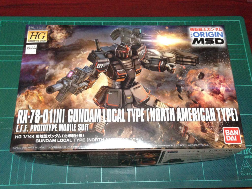 HG 1/144 RX-78-01[N]局地型ガンダム(北米戦線仕様) [Gundam Local Type (North American Type)] [TheORIGIN] パッケージ