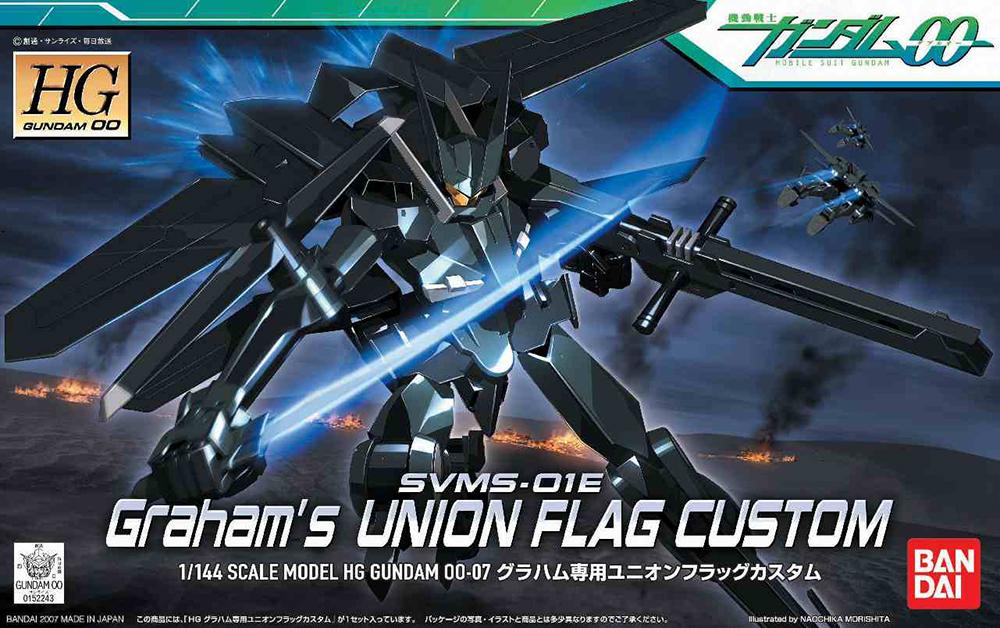 HG 1/144 SVMS-01E グラハム専用ユニオンフラッグカスタム [Union Flag Graham Aker Custom] パッケージアート