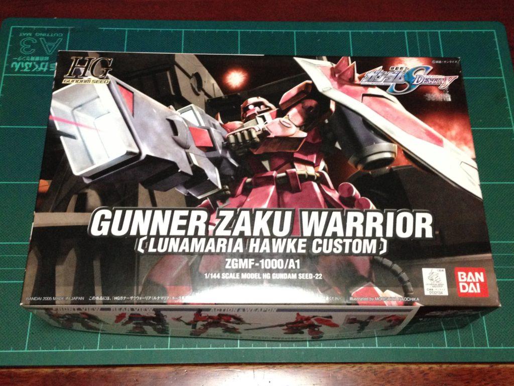 "HG 1/144 ZGMF-1000/A1 ガナーザクウォーリア(ルナマリア・ホーク専用機) [Gunner ZAKU Warrior ""Lunamaria Hawke Custom""] パッケージ"