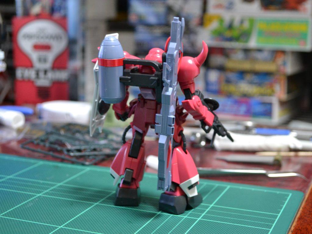 "HG 1/144 ZGMF-1000/A1 ガナーザクウォーリア(ルナマリア・ホーク専用機) [Gunner ZAKU Warrior ""Lunamaria Hawke Custom""] 背面"
