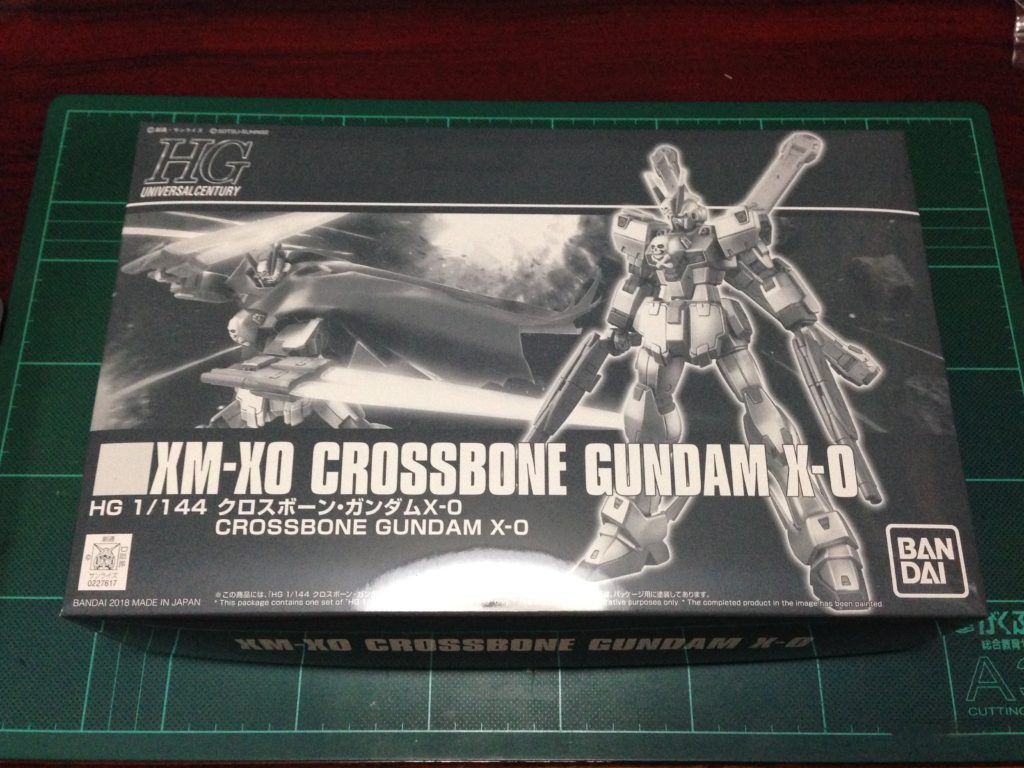 HGUC 1/144 XM-X0 クロスボーン・ガンダムX-0 パッケージ