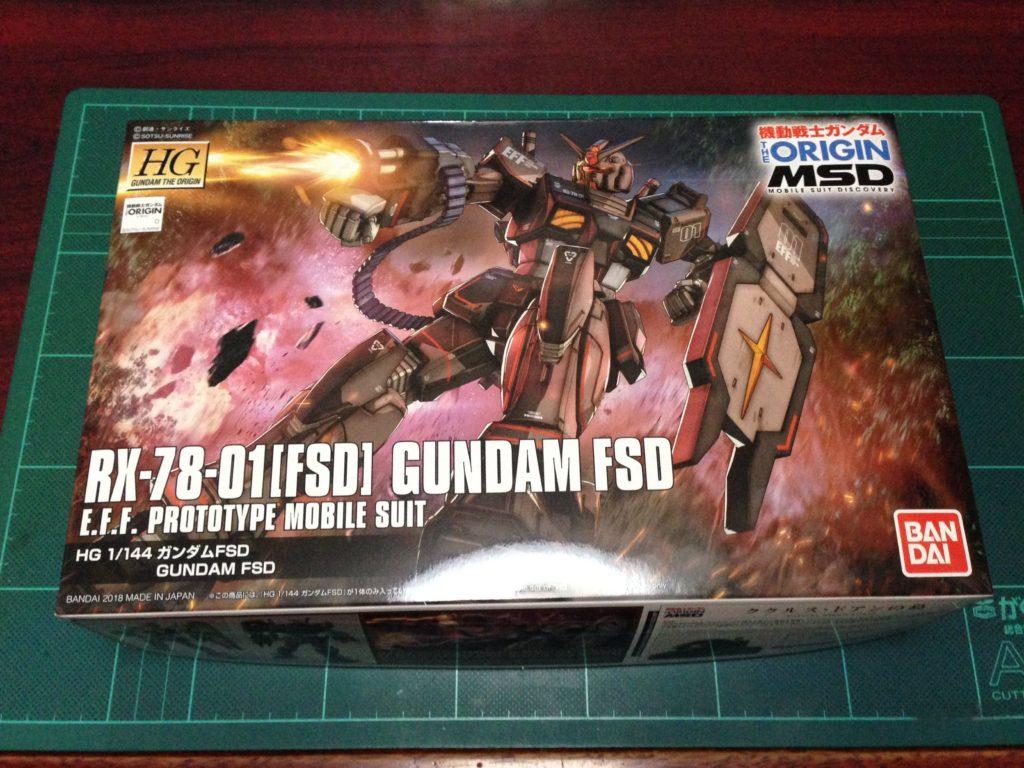 HG 021 1/144 RX-78-01[FSD] ガンダムFSD パッケージ