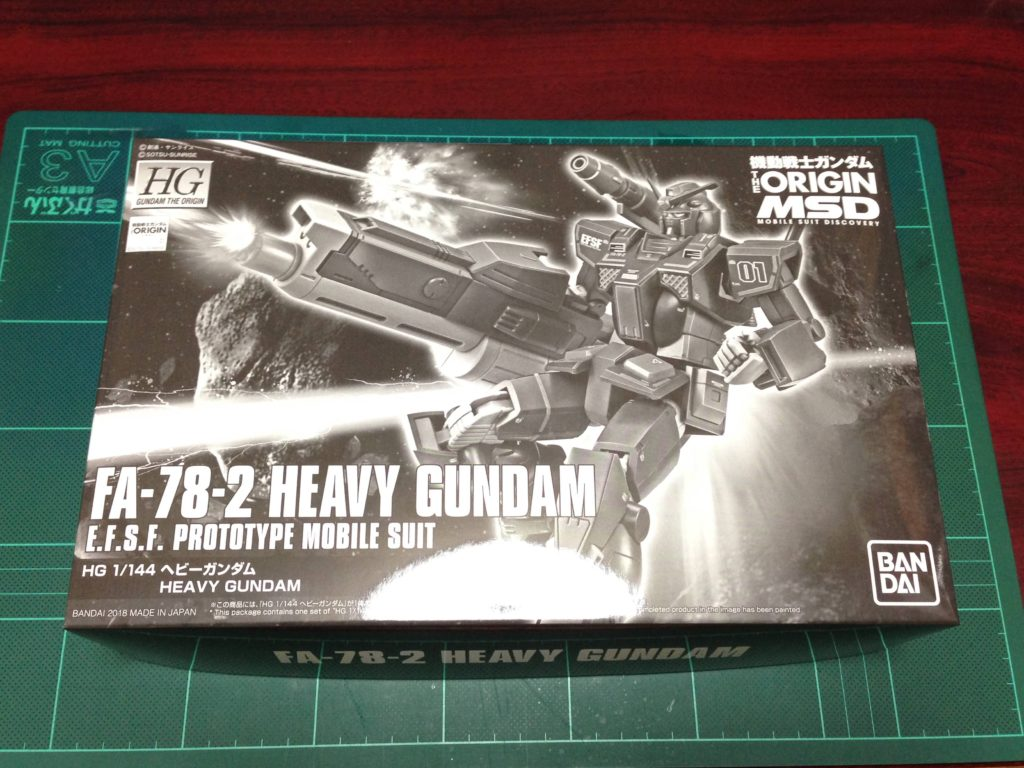 HG 1/144 FA-78-2 ヘビーガンダム [Heavy Gundam] パッケージ