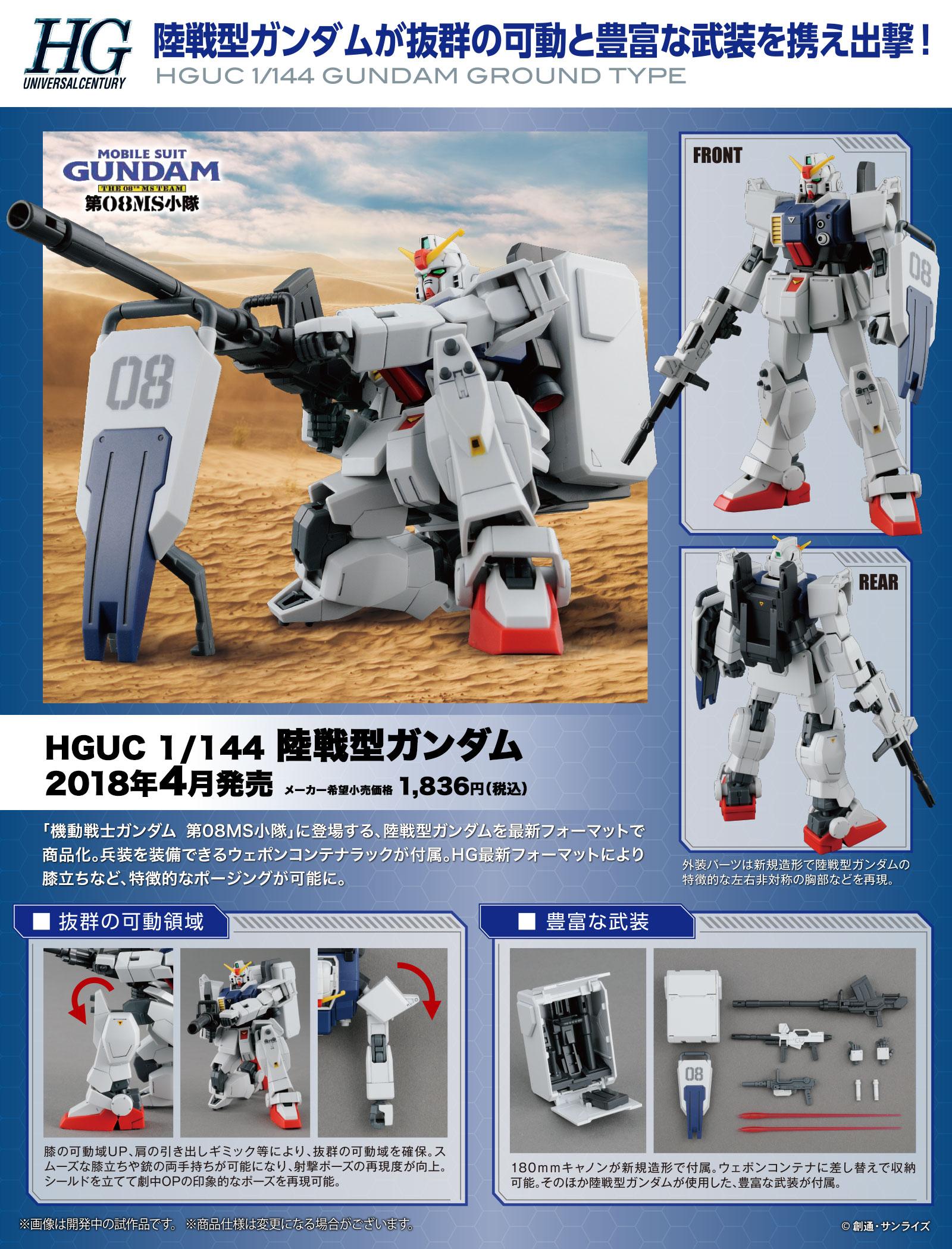 HGUC 1/144 陸戦型ガンダム 公式商品説明(画像)