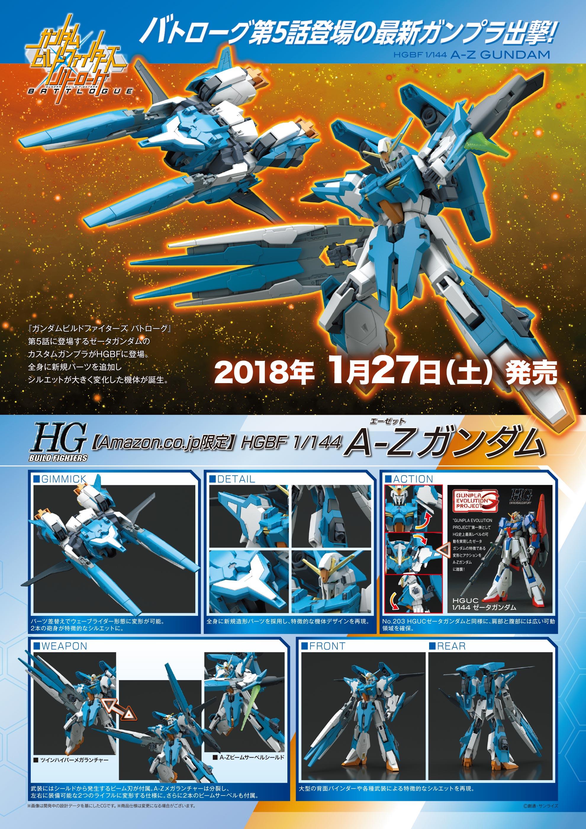 HGBF 1/144 amazon.co.jp A-Zガンダム 公式商品説明(画像)