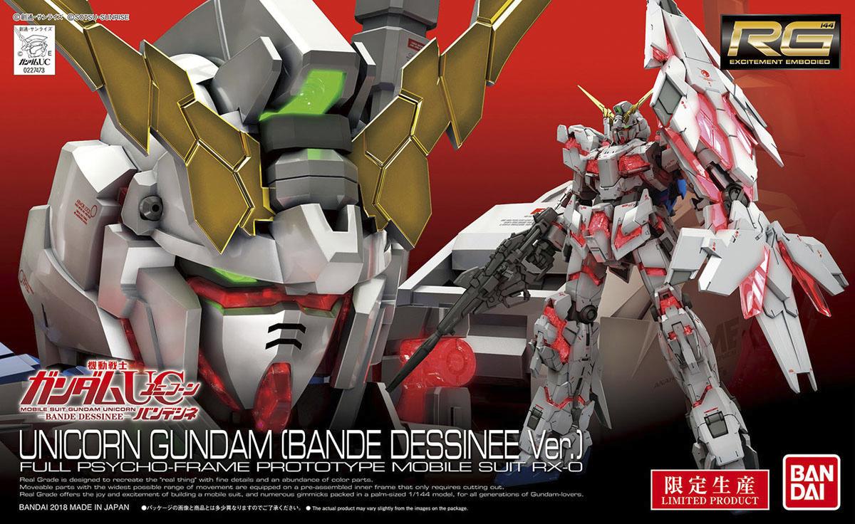 RG 1/144 RX-0 ユニコーンガンダム (バンデシネVer.) [Unicorn Gundam (Bande Dessinee Ver.)]