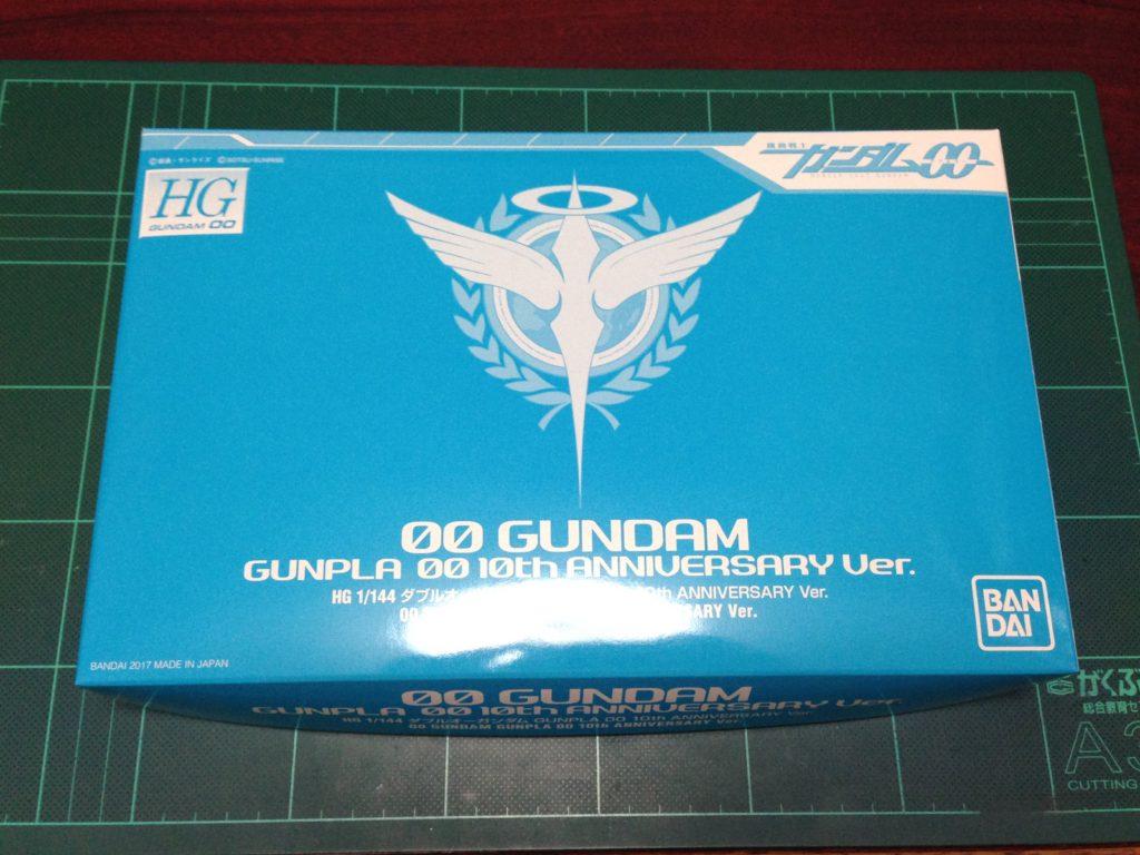 HG ダブルオーガンダム GUNPLA 00 10th ANNIVERSARY Ver. パッケージ